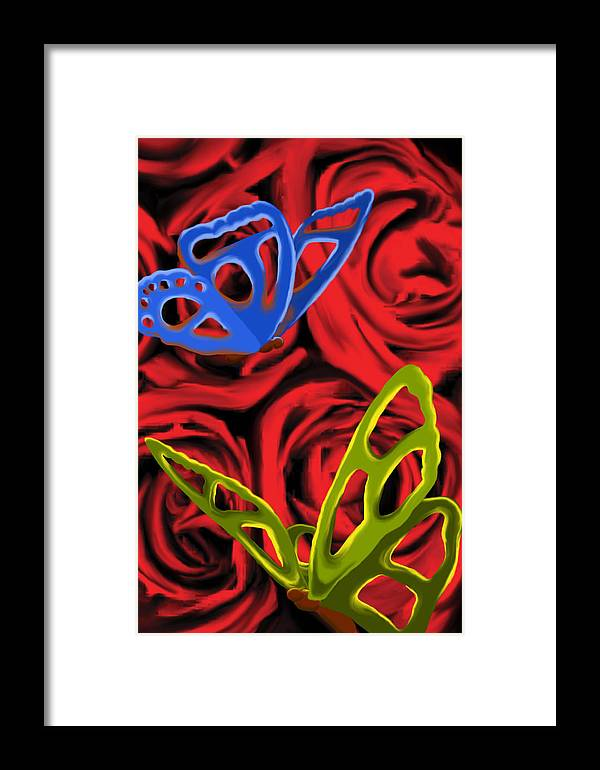 Butterfly Framed Print featuring the painting Lovelorn by Christopher Acosta