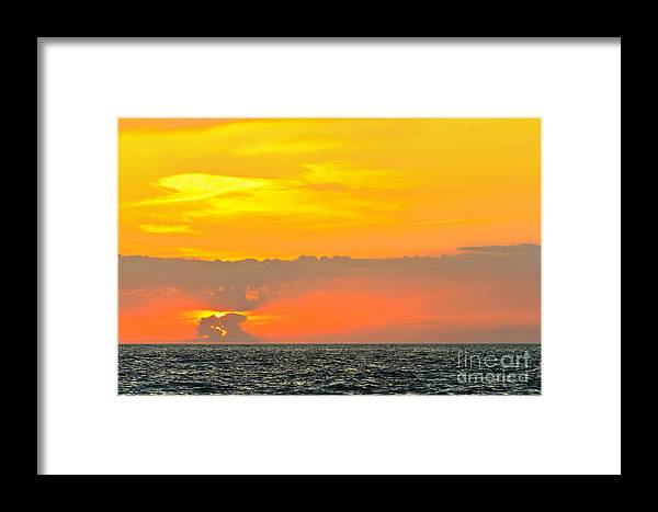 Atmosphere Framed Print featuring the photograph Lovely Sunset Over The Sea by Nino Rasic