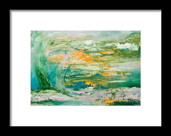 Acrylic Framed Print featuring the painting Lover's Land Of Hope by Martina Dresler