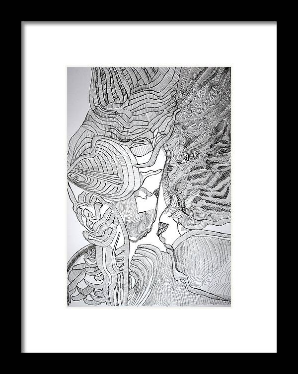 Love Framed Print featuring the drawing Loves Prize by Gloria Ssali