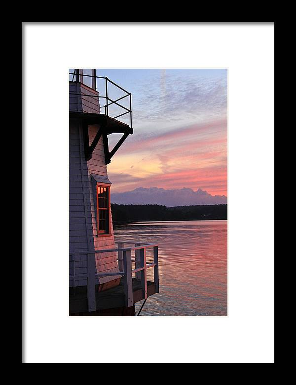 Landscape Framed Print featuring the photograph Loves Red Glow by Brenda Giasson