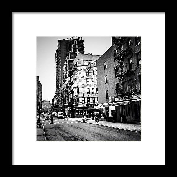 New York City Framed Print featuring the photograph Lower East Side Pianos - New York City by Vivienne Gucwa