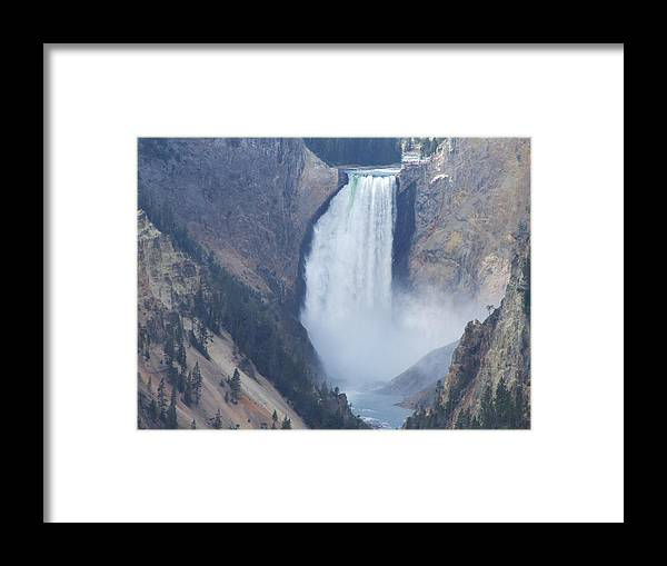 Waterfall Framed Print featuring the photograph Lower Falls by Wendy Hope