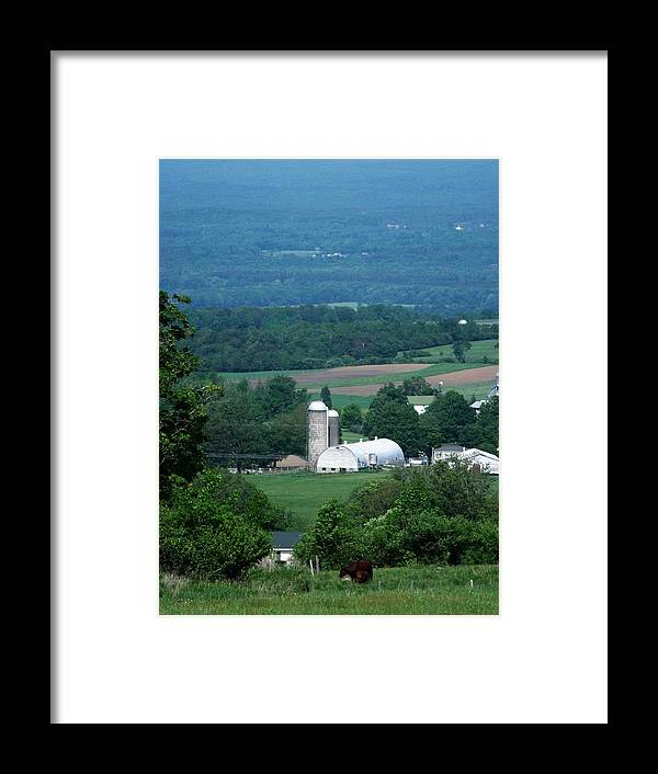 Farm Framed Print featuring the photograph Lowville Ny by Dennis Comins