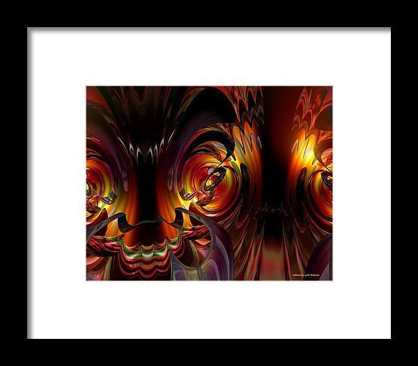 Canvas Framed Print featuring the digital art Lsd Dragon N Side Out Fx by G Adam Orosco