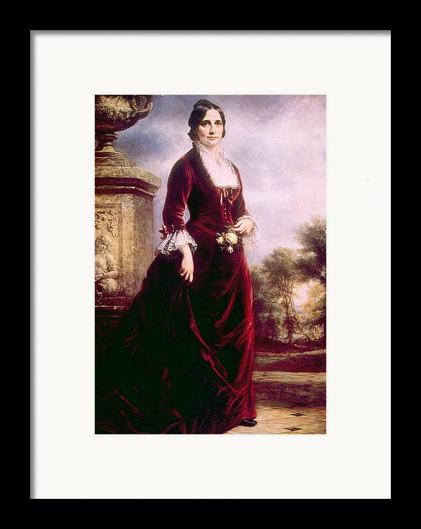 19th Century Portrait Framed Print featuring the photograph Lucy Ware Webb Hayes 1831-1889, First by Everett
