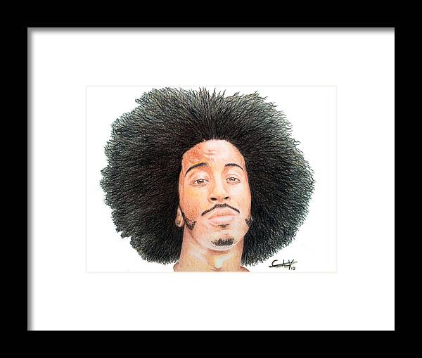 Ludacris Framed Print featuring the drawing Ludacris by Carlos Velasquez Art