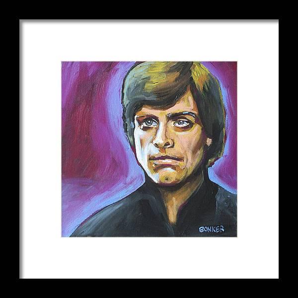 Luke Skywalker From Star Wars Played By Mark Hamill Framed Print featuring the painting Luke Skywalker by Buffalo Bonker