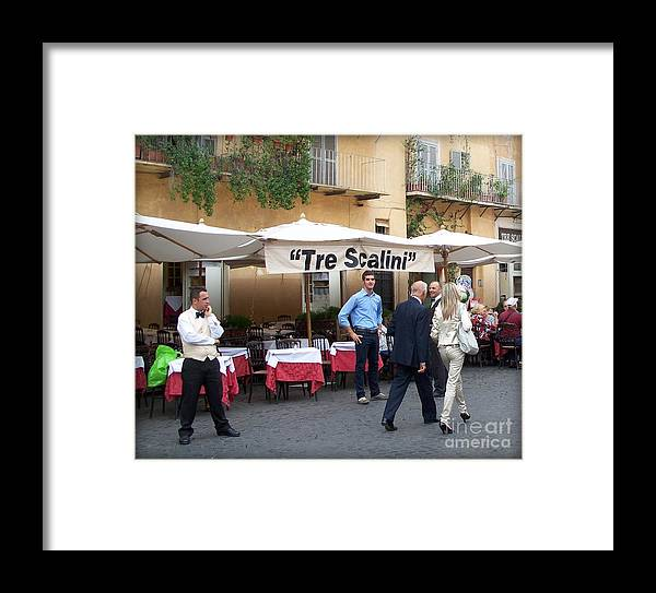 Italy Framed Print featuring the photograph Lunch Time In Rome by Tanya Searcy