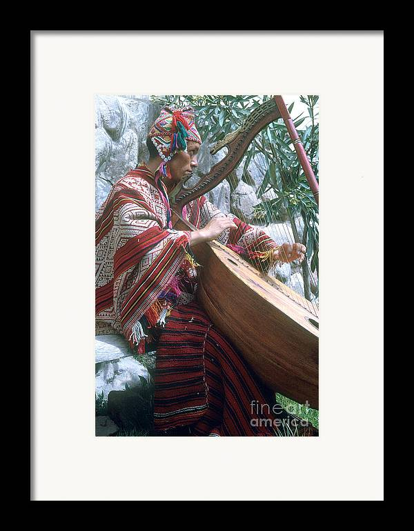 Lute Player Framed Print featuring the photograph Lute Player by Photo Researchers, Inc.