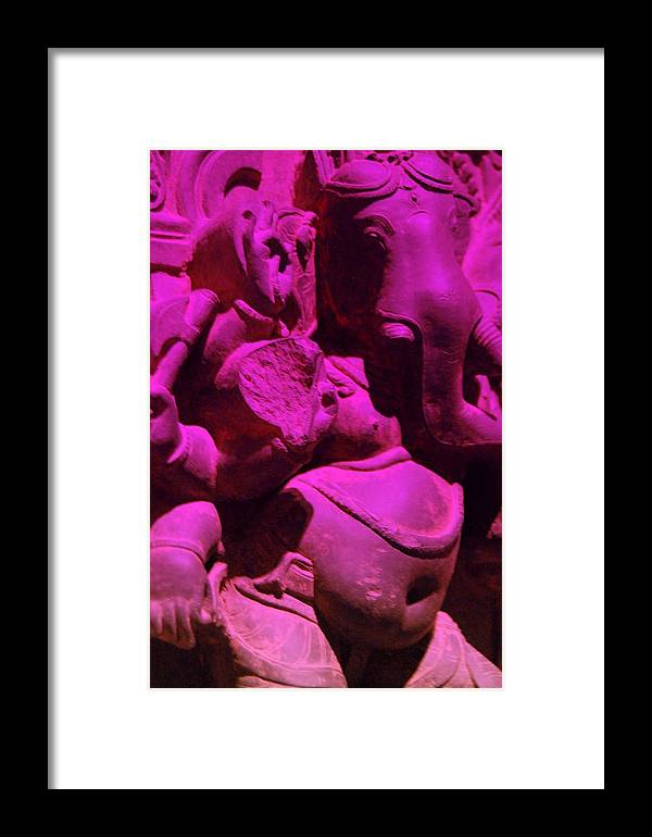 Buddha Framed Print featuring the photograph M-ganesha by Melanie D Cervantes