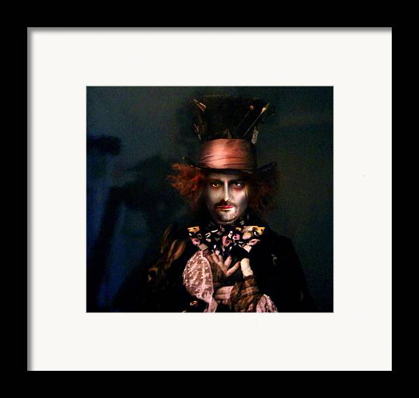Mad Hatter Framed Print featuring the digital art Mad Hatter by Alessandro Della Pietra
