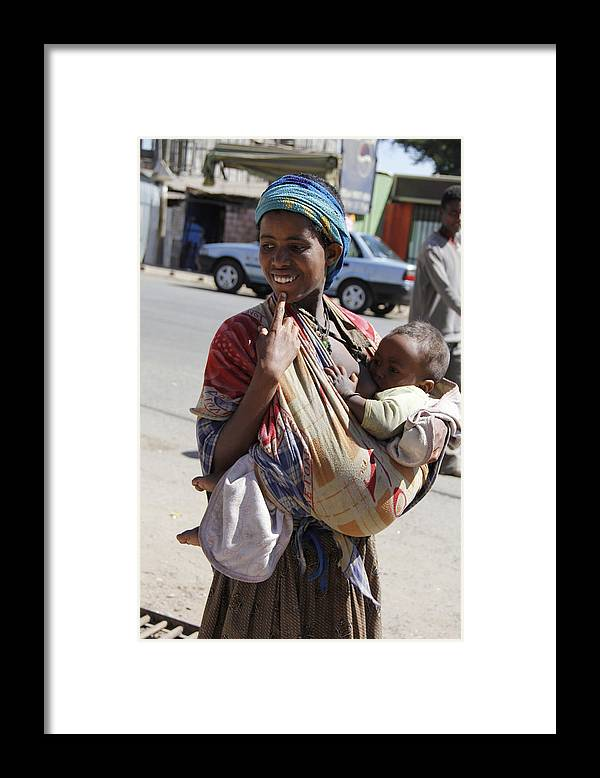 Mother Framed Print featuring the painting Madonna of Addis Ababa No.2 by Robert SORENSEN