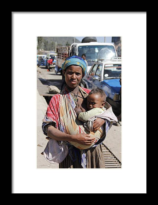 Mother Framed Print featuring the painting Madonna of Addis Ababa by Robert SORENSEN