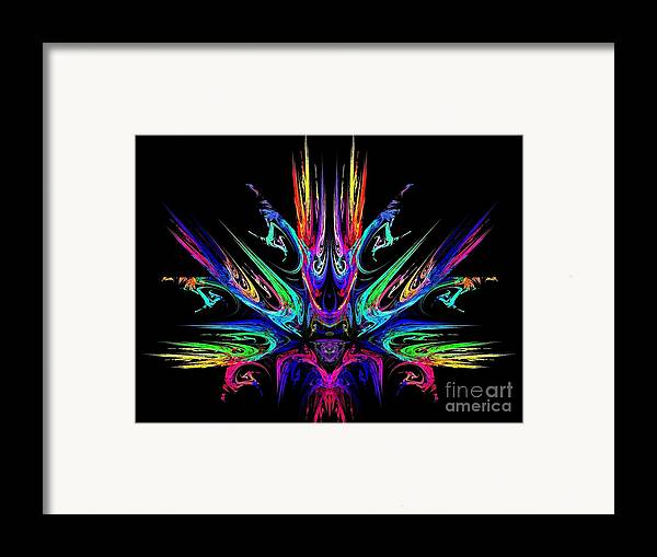 Fire Framed Print featuring the digital art Magic Fire by Klara Acel