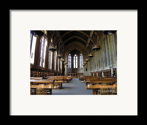 Library Framed Print featuring the photograph Magic Library by Silvie Kendall