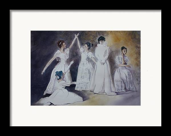 Ballet Dancers Framed Print featuring the painting Magic by Patsy Sharpe
