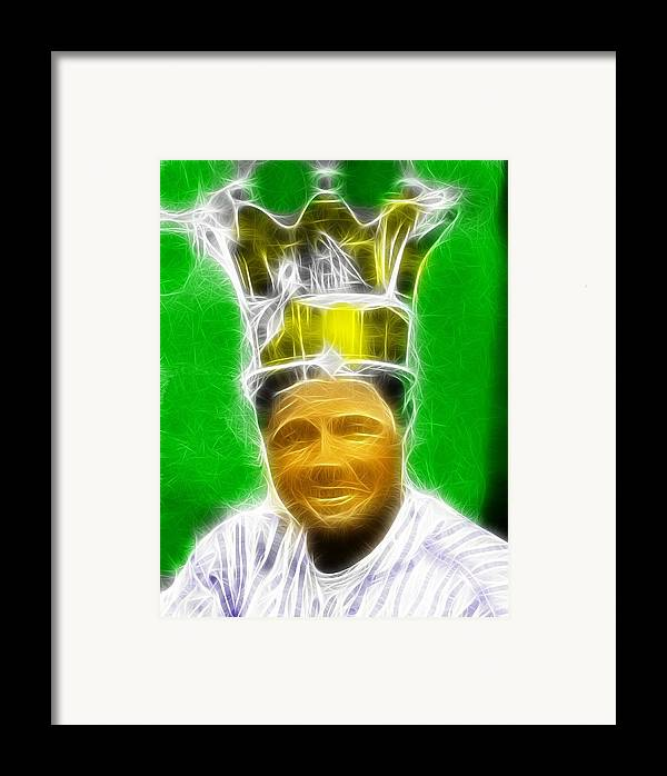 Babe Ruth Framed Print featuring the painting Magical Babe Ruth by Paul Van Scott