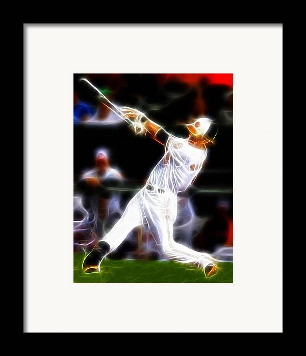 Baltimore Orioles Framed Print featuring the painting Magical Oriole by Paul Van Scott