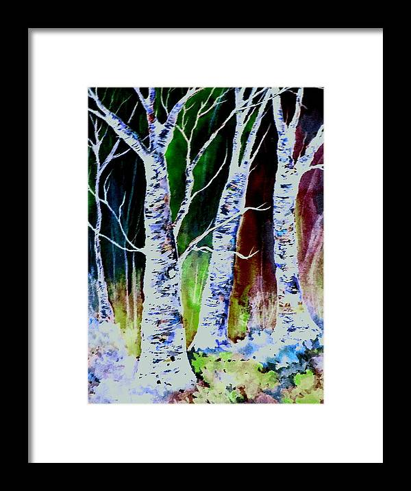 Landscape Framed Print featuring the painting Magical Woods by Brenda Owen
