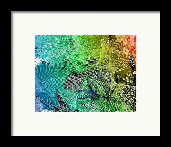 Abstract Framed Print featuring the mixed media Magnification 5 by Angelina Vick