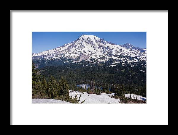 Rainier Framed Print featuring the photograph Majestic Rainier Reflected by Mike Reid