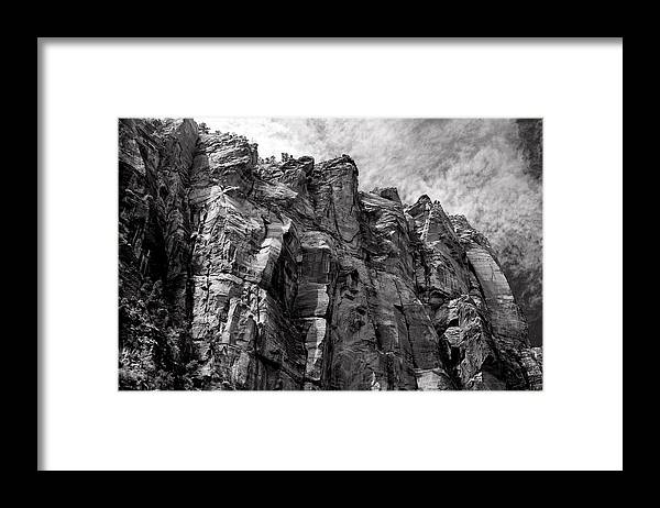 Cliff Framed Print featuring the photograph Majestic Zion by Rees Gordon