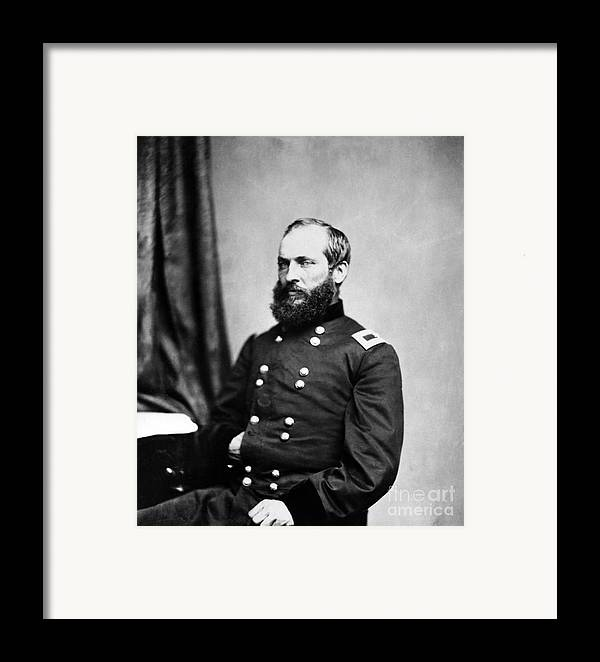 Government Framed Print featuring the photograph Major General Garfield, 20th American by Chicago Historical Society