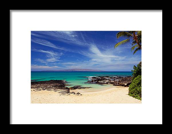 Beaches Framed Print featuring the photograph Makena Cove Maui by David Olsen