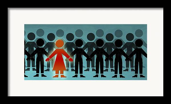 Crowd Framed Print featuring the photograph Male Dominated Society, Artwork by Christian Darkin