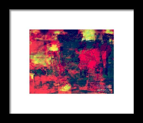 Fania Simon Framed Print featuring the mixed media Mali In Abstract Mode by Fania Simon