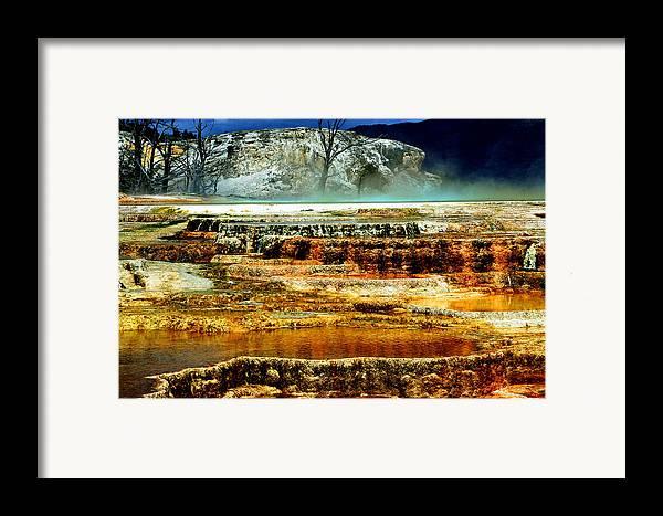 Yellowstone Framed Print featuring the photograph Mammoth Terrace - Yellowstone by Ellen Heaverlo