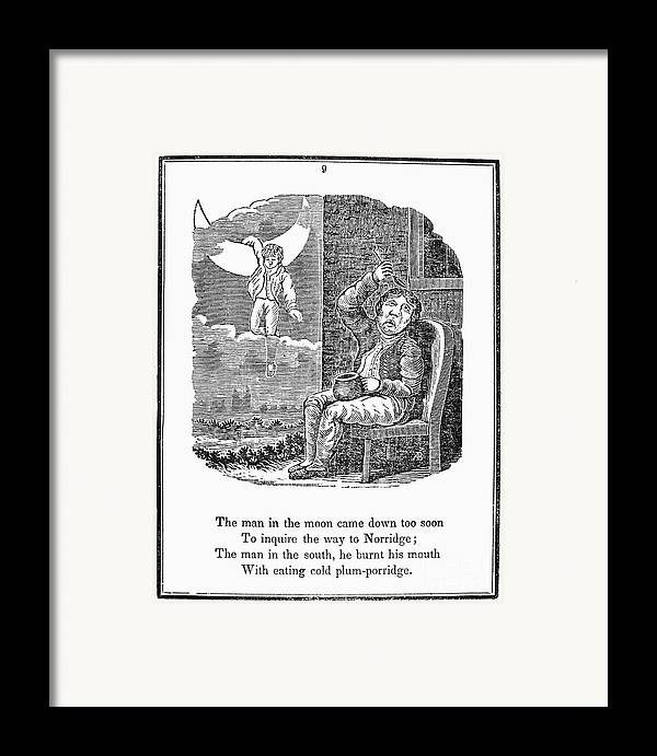 1833 Framed Print featuring the photograph Man In The Moon, 1833 by Granger