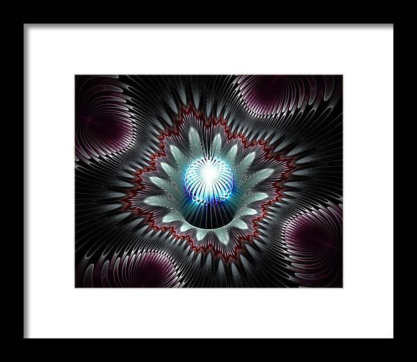 Fractal Framed Print featuring the digital art Mana Seed by Drake Lock