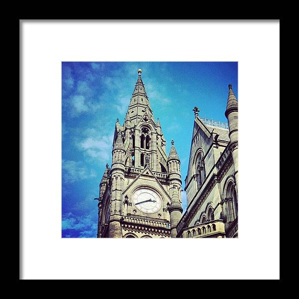 City Framed Print featuring the photograph #manchester #buildings #classic by Abdelrahman Alawwad