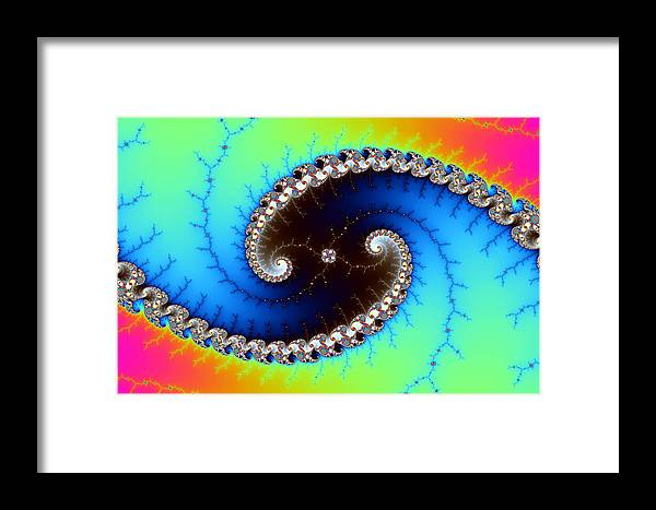 Abstract Framed Print featuring the digital art Mandelbrot Byways No. 4 by Mark Eggleston