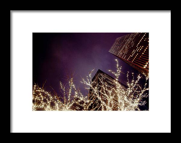 New York Framed Print featuring the photograph Manhattan Lights by Heidi Reyher