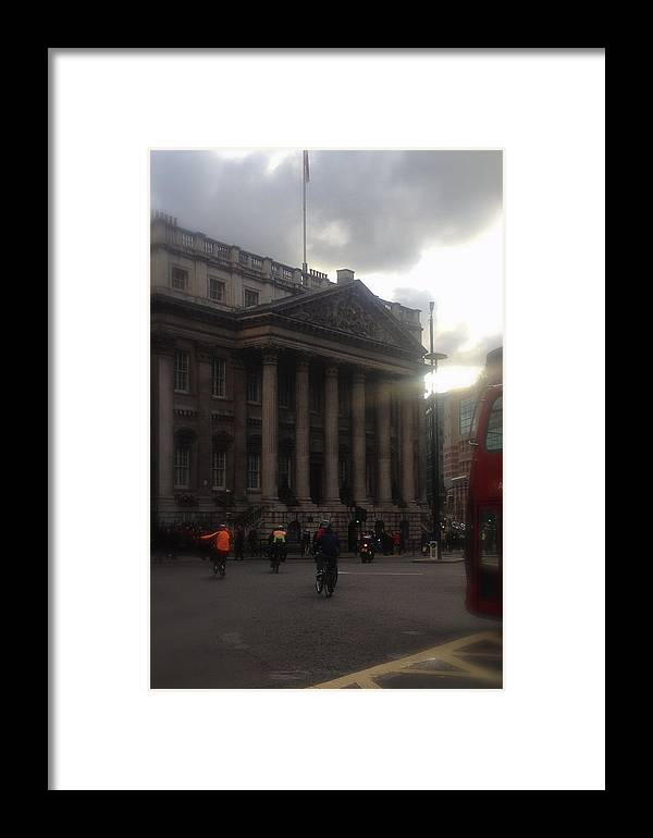 Lloyds Of London Framed Print featuring the photograph Mansion House City Of London by John Colley