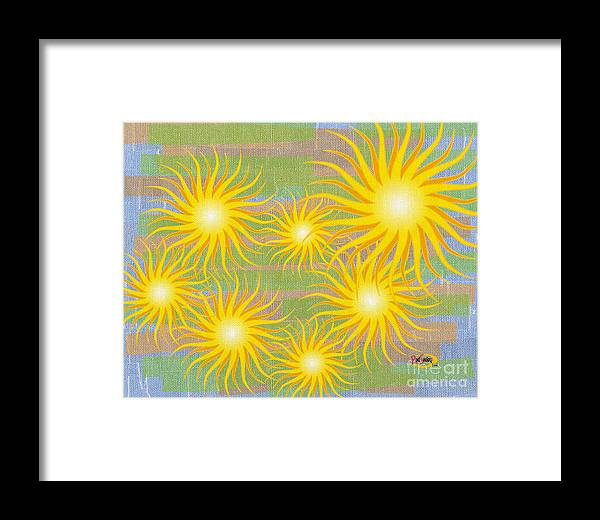 Digital Painting Framed Print featuring the digital art Many Suns by Rod Seeley