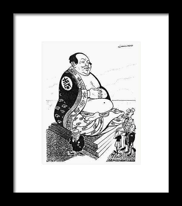 Mao Tse-tung Cartoon, 1958 Framed Print by Granger