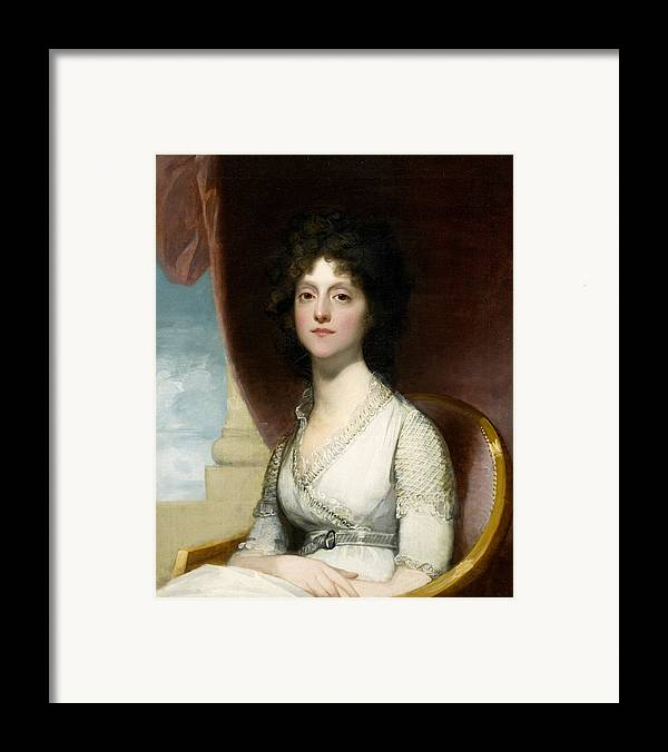 Female Framed Print featuring the painting Marianne Ashley Walker by Gilbert Stuart