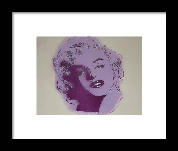 Marilyn Spray Paint Portrait Pop Tribute Framed Print featuring the photograph Marilyn by Christopher Golding
