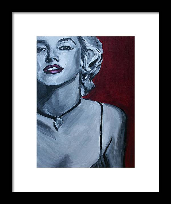 Marilyn Monroe Framed Print featuring the painting Marilyn Monroe by Kate Fortin