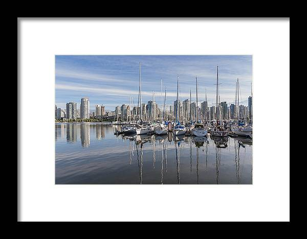 Marina Framed Print featuring the photograph Marina At False Creek by Andrew Campbell