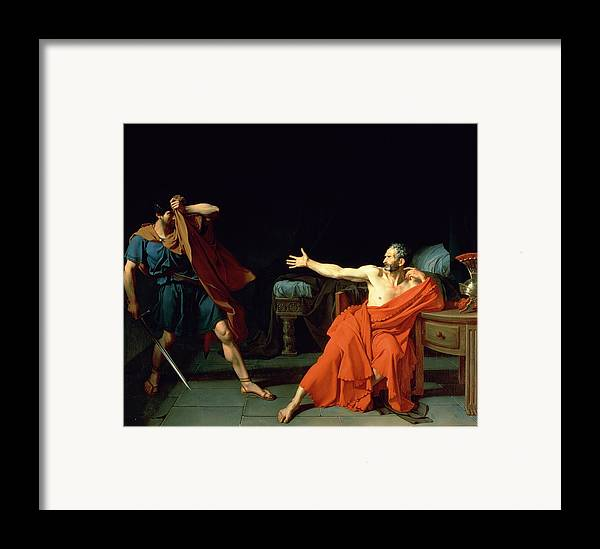 Marius At Minturnae Framed Print featuring the painting Marius At Minturnae by Jean-Germain Drouais