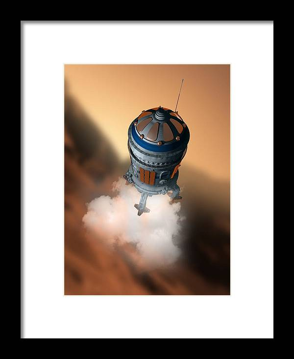 Adventure Framed Print featuring the photograph Mars Exploration, Artwork by Victor Habbick Visions