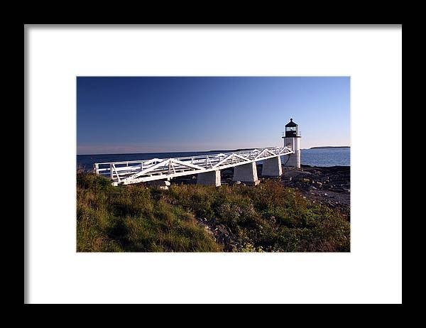 Port Clyde Maine Framed Print featuring the photograph Marshall Light by Brenda Giasson