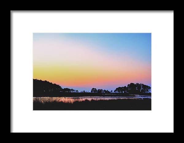 Marsh Framed Print featuring the photograph Marshy Sunset by Kelly Reber