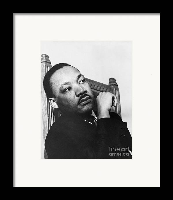 History Framed Print featuring the photograph Martin Luther King, Jr by Photo Researchers