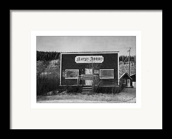 Old Framed Print featuring the photograph Mary's Rooms by Priska Wettstein